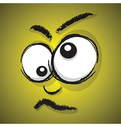 Emotions yellow crazy vector