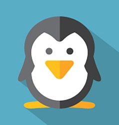 Modern Flat Design Penguin Icon vector image