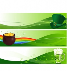 St patrick's banners vector