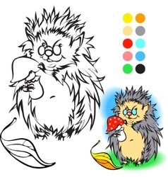 Hedgehog coloring book vector