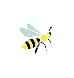 Stylized silhouette of a bee on light background vector