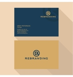 Qualitative elegant business card logo and vector