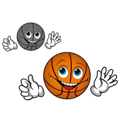 Basketball ball cartoon vector