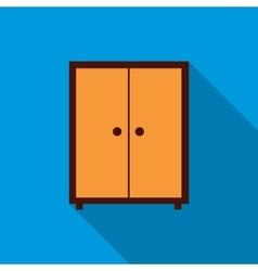 Wardrobe icon flat style vector