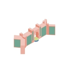 Gate in dubai icon isometric 3d style vector