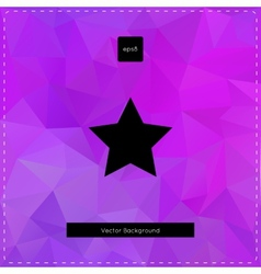 Abstract violet polygonal background vector image vector image