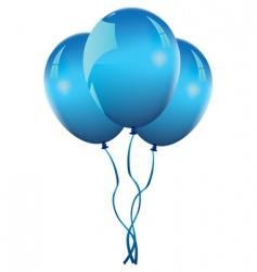 Blue balloons vector