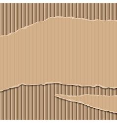Cardboard corrugated banner vector image vector image
