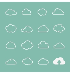 cloud shapes set cloud icons for cloud computing vector image