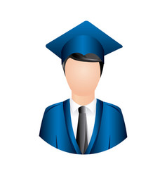 color man graduation icon vector image vector image