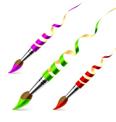 creative paintbrushes vector image vector image