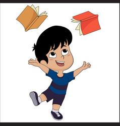Cute kid very funny vector