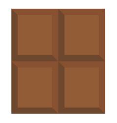 Dark milk chocolate bar icon isolated vector
