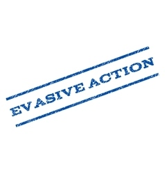Evasive action watermark stamp vector