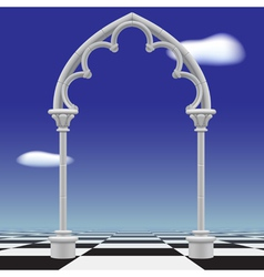 Gothic arch vector image