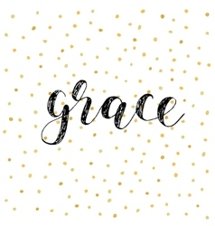 Grace brush lettering vector