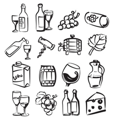 hand draw wine vector image vector image