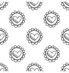 Hand drawn seamless vintage pattern vector