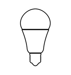 led lightbulb black icon vector image