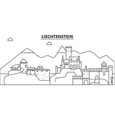 Liechtenstein architecture line skyline vector