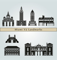 manzanillo landmarks vector image vector image