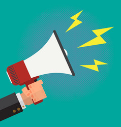 megaphone speaking out loud vector image vector image