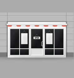 realistic detailed 3d exterior of restaurant cafe vector image vector image