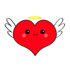 red heart face head icon set devil angel evil vector image