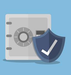 Safe box icon vector