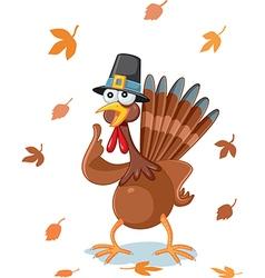 Thanksgiving turkey funny cartoon vector