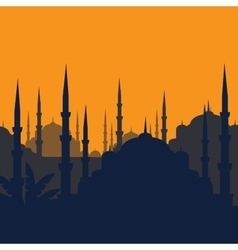 The Blue Mosque Sultanahmet Camii Istanbul vector image vector image
