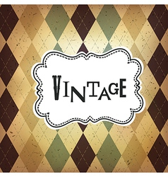vintage retro card vector image