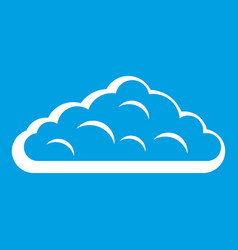 Wet cloud icon white vector