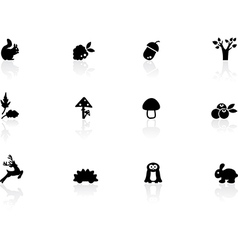 Woodland icons vector