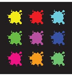 Colour splashes vector