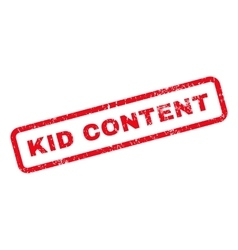 Kid content text rubber stamp vector