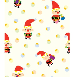 Santa helper pattern vector