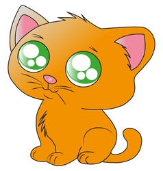 Ginger kitten vector