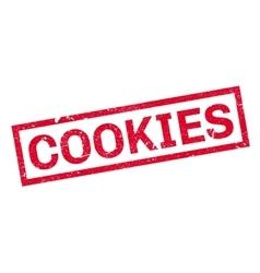 Cookies rubber stamp vector