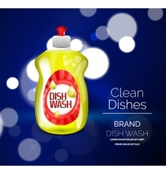 Kitchen dish wash ad product package vector