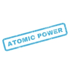 Atomic power rubber stamp vector