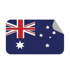 australia flag patrotic country sticker vector image