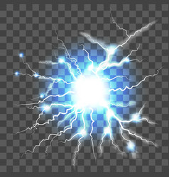 Lightning on transparent background vector