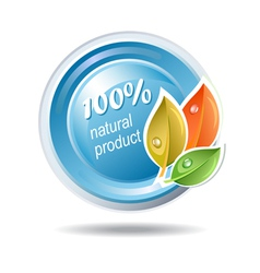 Natural product ecologic icon vector