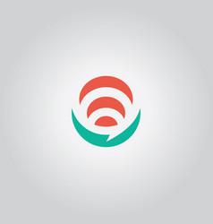 Talk bubble logo abstract vector
