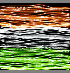 Independence day of india of lines background vector