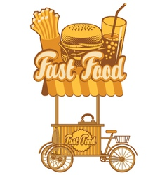 fast food tray vector image
