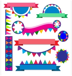 Banner colorful for party vector