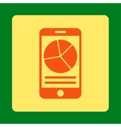Mobile report icon vector