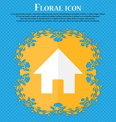 Home main page floral flat design on a blue vector